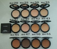 Wholesale Makeup Studio Fix Powder cake Plus Foundation compact foundat face powder puffs g