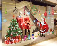 Wholesale High quality eco friendly pvc custom creative removable Christmas window stickers