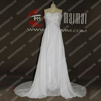 Wholesale Real Photo Cheap White Lace Beach Wedding Dresses Simple Appliques Lace Beach Wedding Dress New Backless Lace A Line Wedding Gowns BC07