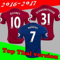 Wholesale Thai Quality new IBRAHIMOVIC Soccer Jerseys Shirt Tops ROONEY Football Jerseys WEAR CARRICK SHALLING Soccer WEAR