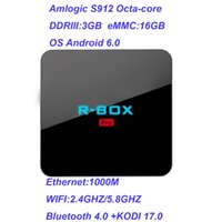 Wholesale R BOX PRO Amlogic S912 TV BOX Octa core GB GB android GHZ GHZ WIFI M kodi17 Smart box