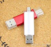 Wholesale 2016 new GB GB GB Smart Phone USB Flash Drive OTG Pen For Smart Phones tablet computer random colour external storage
