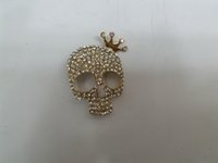 african masks animals - Skull Imperial Crown Mask Jewelry Corsage Brooch and Pin Alloy Rhinestone Crystal Halloween for Women and Man