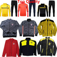 bay style - Training Suit Dortmund Jackets Bay Jackets Gotze Tracksuits New Style Hoody Sweater Robben Muller Soccer Jersey Reus wear Top Quality