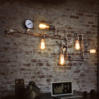 Wholesale Wall Light Industrial Loft Balcony Creative Personality Retro American Restaurant Bar Iron Pipe Wall Sconce