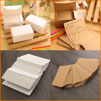 Wholesale 100 Set Kraft Paper Card Message Memo Wedding Party Gift Thank You Cards Label Bookmarks Notes Papel Kraft Blanco Brown White