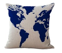 art education posters - World Map Of Hemisphere Contour Voyage Retro Poster Emoji Pillow Massager Decorative Pillows Art Painting Kids Education Gift
