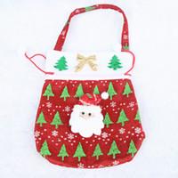 Wholesale 10pcs high quality non woven Christmas snowman candy bags santa claus handbag holiday party gift bag Factory drawstring bags