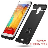 Wholesale 5200mAh Backup External Battery Charger case For Samsung Galaxy Note Power Bank External Backup Battery Charger Case
