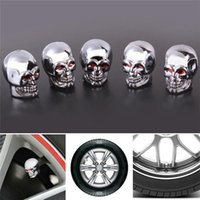 Wholesale New Arrival New Arrival Fashion Skull Tire Tyre Wheel Car Auto Valves Caps Dust Stem Cover Motocycle Bicycle