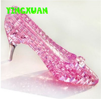 Wholesale DIY D Jigsaw Crystal Puzzle Cinderella s Shoe Plastic Home Decoration Birthday Gift for Children