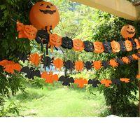 Wholesale Halloween Party Decor Pumpkin Skull String Flags Spider Bat String Flags for Halloween Bar KTV Decor