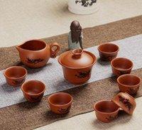 Wholesale Purple sand tea set Kung fu tea set yixing are recommended Manufacturers logo custom ceramic tea set