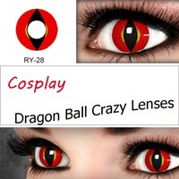 printing - Halloween contact lens Crazy lens Cat Eye Vampire Sharingan Twilight Rave Black out White Out Scary Lens for DHL Ready Stock