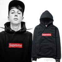 Wholesale 2016 new Autumn and winter brand Hoodie sweatshirt supreme fashion unisex Couples with sports fleece pullover