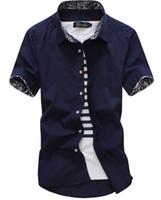 Wholesale new siez men shirt camisa masculin fit striped business formal shirt short sleeve mens dress shirts chemise homme