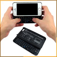 Wholesale Portable Sliding Slide Out Wireless Bluetooth Keyboard phone Case Cover for iPhone6 s inch by DHL free