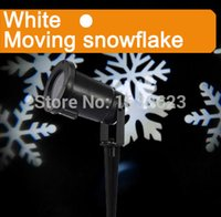 ac white moving - White Moving Snowflake projector led christmas outdoor decoration lampe led exterieur noel projection iluminacion projector led