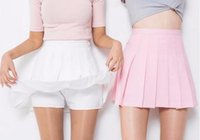 aa models - AA wild spring models pleated skirt tennis skirt A word skirt College wind pants female students
