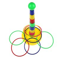 animal ring toss - 1Set Colorful Hoopla Ring Toss Cast Circle Sets Educational Toy Puzzle Game for Kids K5BO