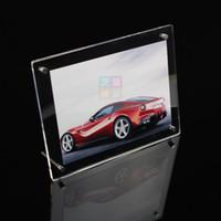 achat en gros de photo magnétique cadre gros-Vente en gros A4 acrylique cadre photo, acrylique photo cadre photo A4, bloc photo acrylique gros acrylique plaque acrylique magnétique photo