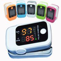 Wholesale Medical finger clip pulse oximeter finger pulse oximetry oxygen meter monitors heart rate monitor heartbeat