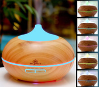 Wholesale 2016 New Car Styling Essential Oil Diffuser Aroma Humidifier Wood Grain Ultrasonic Whisper Quiet Cool Mist Aromatherapy Diffuser14 Colors