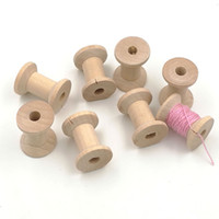 Wholesale Ecofriendly natural wood spools shaped wooden beads reels Unfinished mm Wood Beads DIY beading accessory EA11