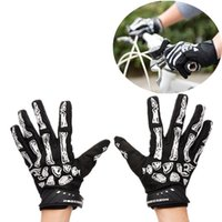Wholesale Cool Design Skeleton knight Universal Full Fingered Shockproof Bicycle Gloves Silica Ger Mitten High Sensitive Sceen Touch Function CYC_90K