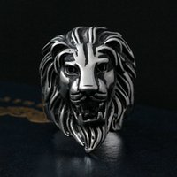 american lion size - Men s Huge Vintage Silver Lion L Stainless Steel Biker Ring King Of Animal Head US Size