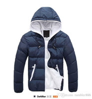 Wholesale new fashion Winter men jackets jacket warm coat Mens Coat Brand Sport Jacket Winter Down Parkas Man s Overcoat Size M XL free shippin