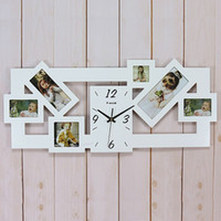 antique wooden frames - Wooden arch hammock silent wall clock personalized clock fashion photo frame pocket watch clock