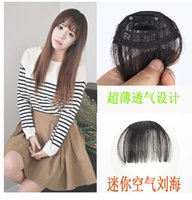 Wholesale Clip in Bangs Fake Hair Extension Hairpieces False Hair Piece Clip on Front Neat Bang For Women Synthetic Hair Fringe Bangs PC WA0115