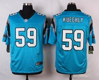 Wholesale 59 Kuechly New Arrivals Men Panthers Blue Elite Stitched Jerseys Free Drop Shipping lymmia Mix order
