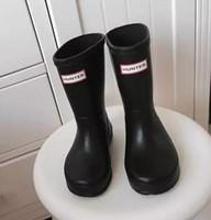 baby boots winter waterproof - 1 Matte Rain Boots Waterproof Baby Kids Wellies Boots children s Rain Boots High cm Boot Rainboots Hot Sale