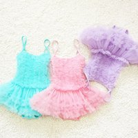 Wholesale Kids Swimwear One Piece Pink Blue Purple Cheap Baby Swim Swimsuits Spaghetti Neck Hot Sale Beach Little Girls Swimsuit