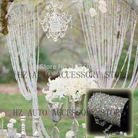 Wholesale 30m DIY Iridescent Garland Diamond Acrylic Crystal Beads Strand Shimmer Wedding decoration
