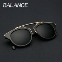balance sun - BALANCE New Retro So real sunglasses Original Cat Eye sun glasses Vintage Brand Designer men women Coating Glasses UV400 color