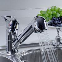 Wholesale Beautiful Design Pull Out single lever Spray Basin Monobloc Kitchen Sink Basins Chrome Mixer Tap Faucet torneira cozinha