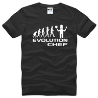 big black cook - Fashion Evolution Chef Cooking Funny Men T Shirts New Summer Short Sleeve O neck Cotton Cool Evolution T Shirt Tee Tops Big Size S XL