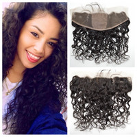 Wholesale 13x4 Full Silk Base Lace Frontal Closure With Baby Hair Peruvian Water Wave Virgin Hair Closure Bleached Knots