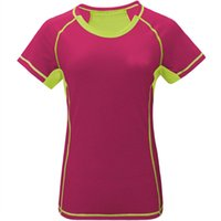 Wholesale New Women Coolmax T shirt Hiking T Shirt Quick Dry T shirt women Solid T Shirt Tops Tees Outdoor For Camping Sport