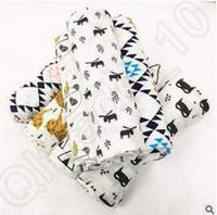 bear design blanket - 18 Design cm INS Batman Fox Bear Wolf Panda Muslin Blanket Aden Anais Baby Swaddle Wrap Blanket Towel Infant Blanket CCA4802