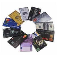 al por mayor tarjetas visa-KalaTeK Genuine Memory Stick USB 2.0 Clave de la unidad Flash Creative Credit Tarjeta de Banco Estilo Patrón 16/32 / 64GB Visa Flash / Jump Drive
