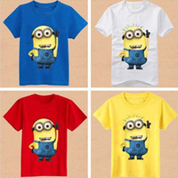 Wholesale 2016 Despicable me minions children kids boys short sleeve t shirt Summer minions children s clothing t shirt wholesales
