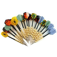 Wholesale 18pcs Steel Copper Needle Tip Dart Darts With Nice Flight Flights Throwing Toy