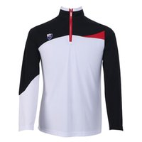 authentic clothes - S039 Top Quality Golf Authentic Autumn And Winter shirts men Zipper collar polo shirts tshirt quick dry long sleeve shirt clothing