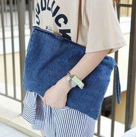 Wholesale New Vintage Letter Jean Denim Women Bags Purse Lady s HandBags Clutches Tote purse Bag Summer bolsa feminina