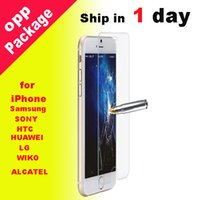 Wholesale For Galaxy S7 edge iphone plus Screen Protector mm Film Tempered Glass for iPhone plus iphone ssc009