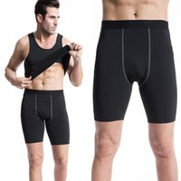 animal skin clothing - Men s skin tight training clothes sports fitness running shorts stretch speed dry Compression Shorts